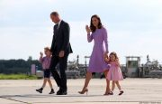 Prince William and his wife Kate Middleton visit Hamburg in Germany.