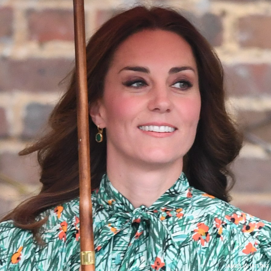 Kate Middleton's green earrings by Monica Vinader
