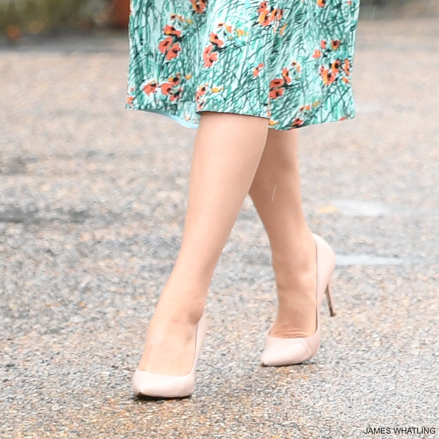 Kate Middleton's nude L.K. Bennett pumps in the White Garden