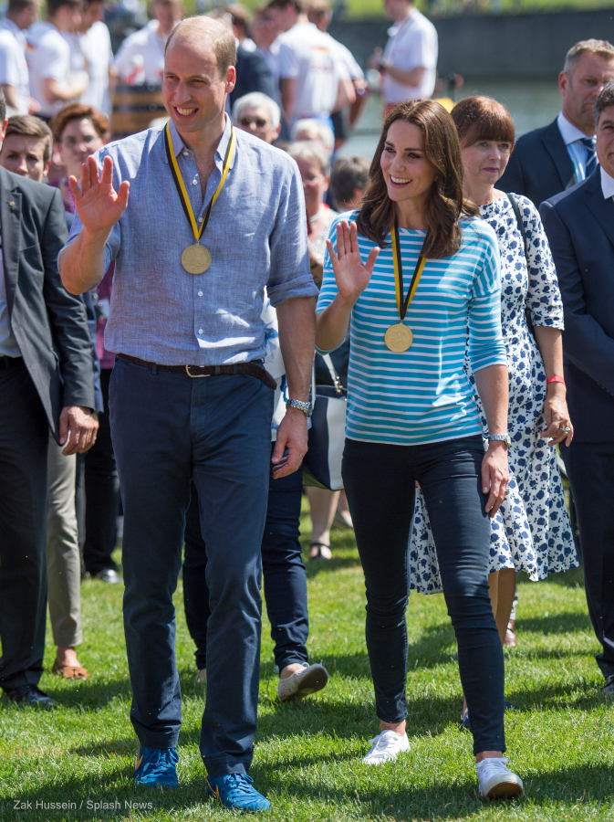 Kate Middleton wearing her Superga Cotu sneakers in Germany
