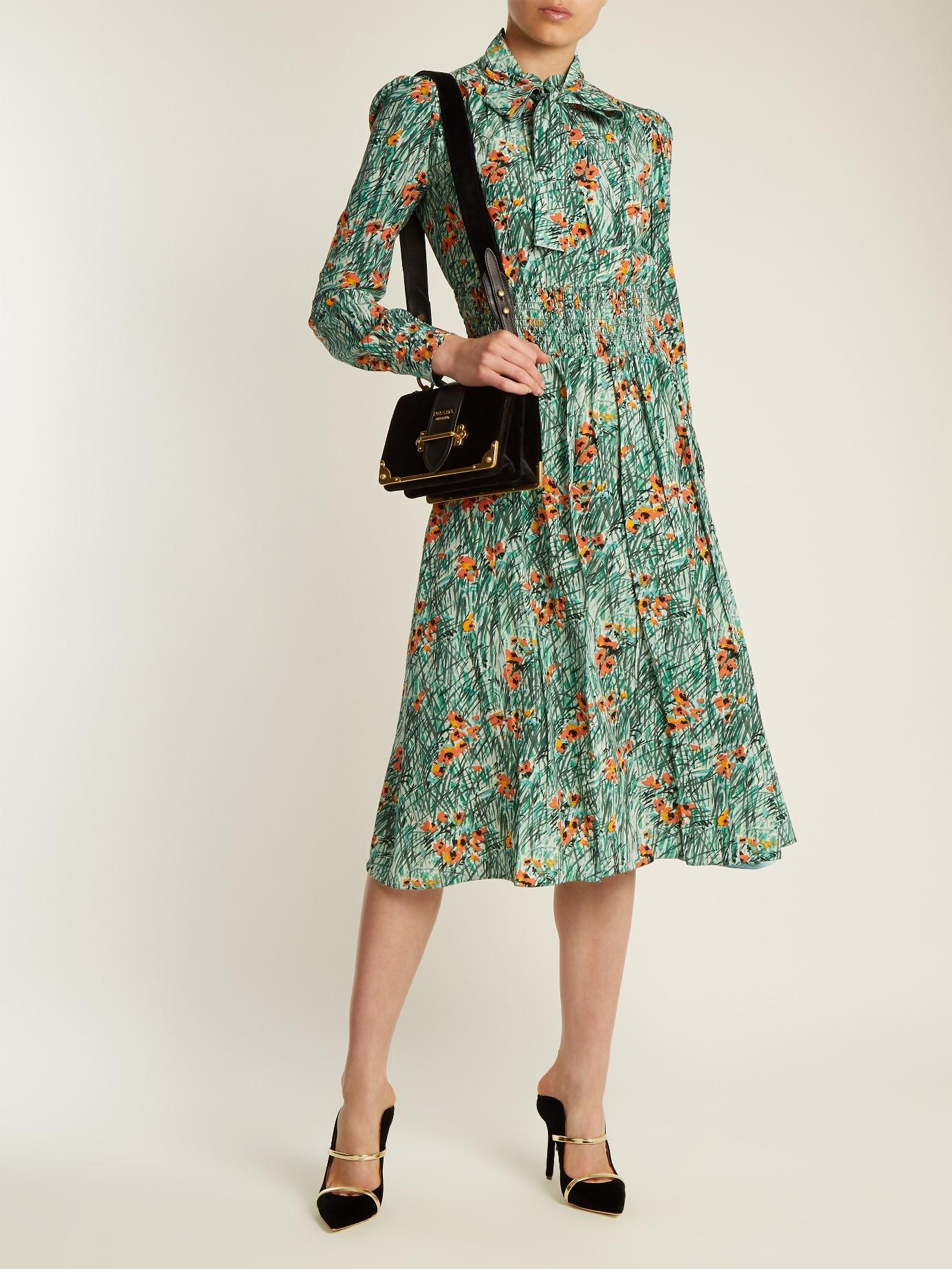Prada Poppy Print Dress