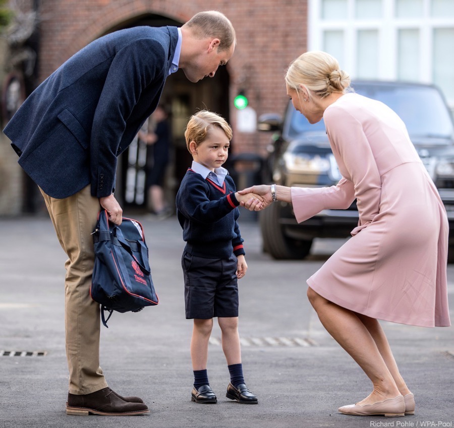 Prince George on his first day at school