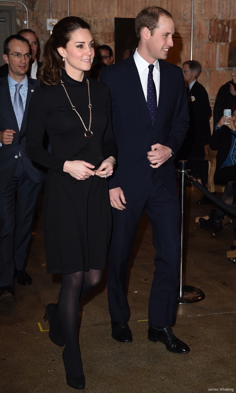 Kate Middleton wearing her black maternity dress from Seraphine