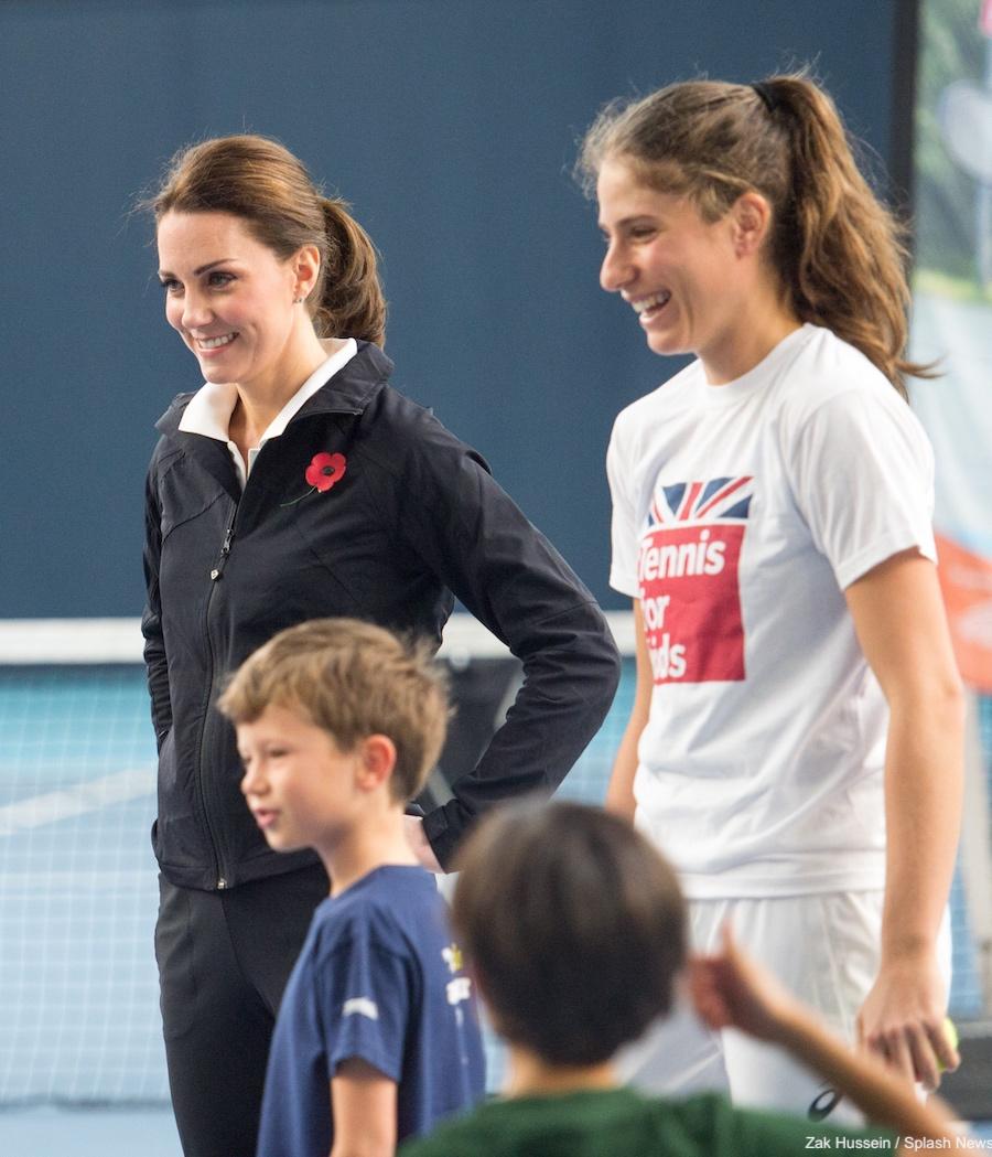 Kate Middleton with Johanna Konta