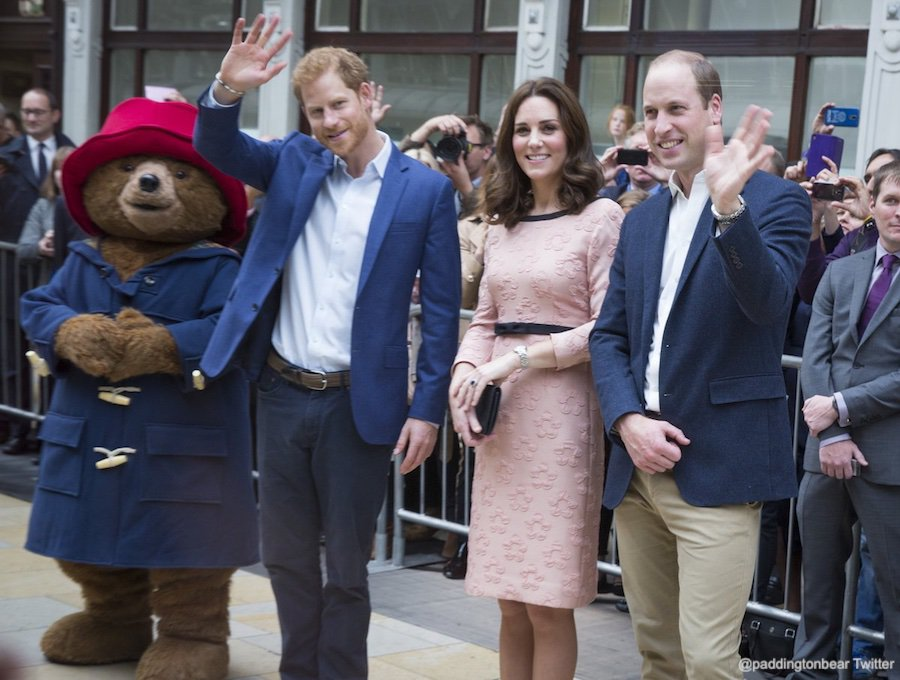 William, Kate and Harry with Paddington