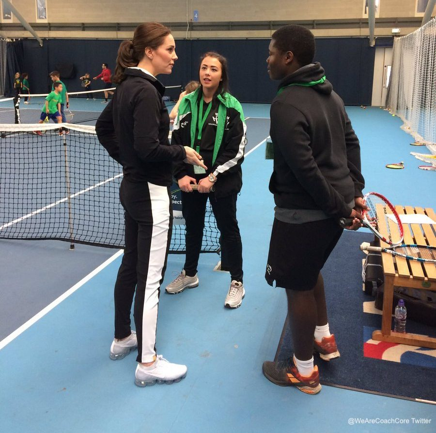Kate Middleton meeting Tennis coaching apprentices