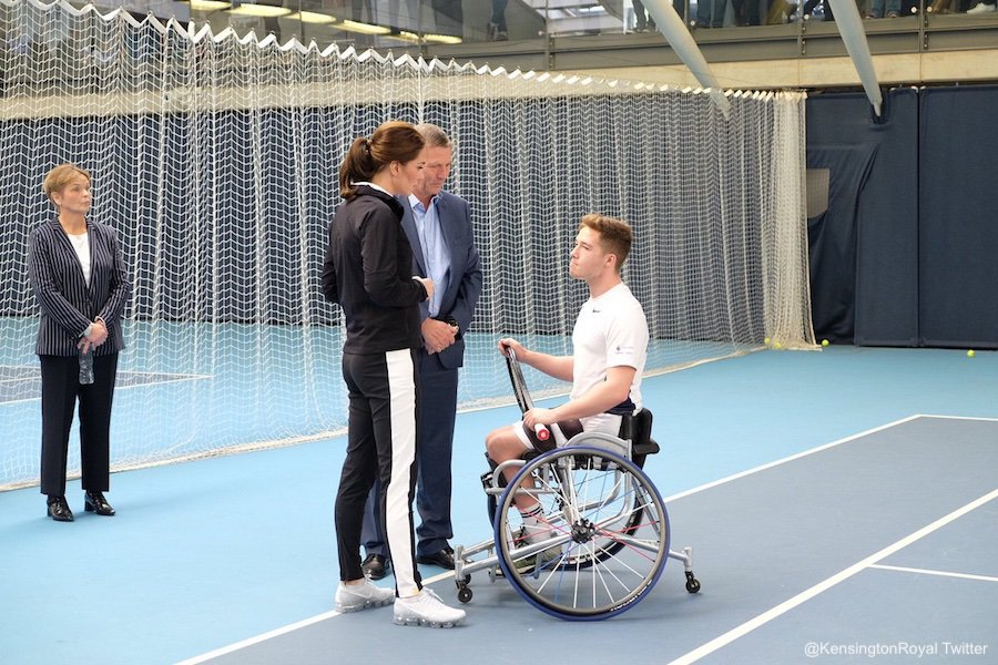 Kate Middleton meets Wheelchair Tennis pro Alfie Hewett
