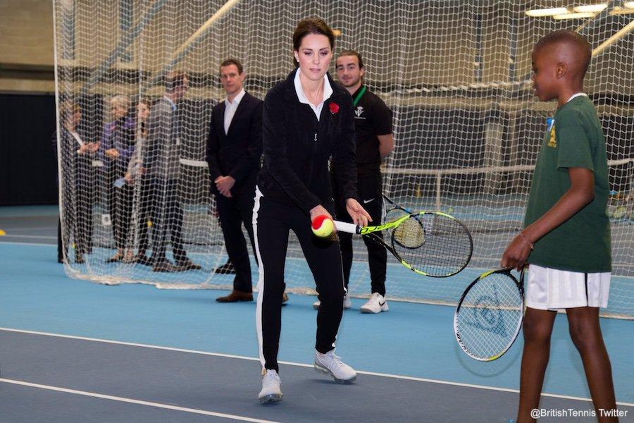 Kate Middleton playing tennis