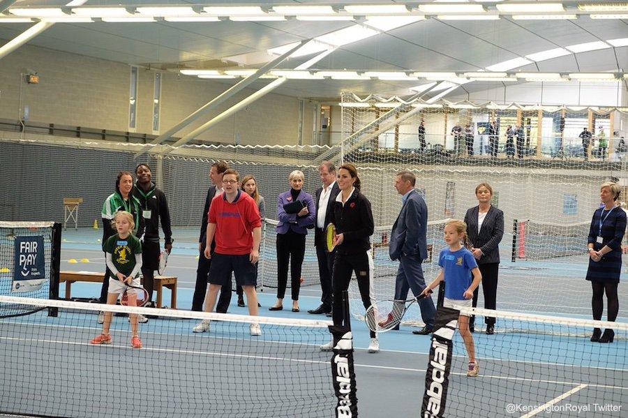 Kate Middleton visits the Lawn Tennis Association