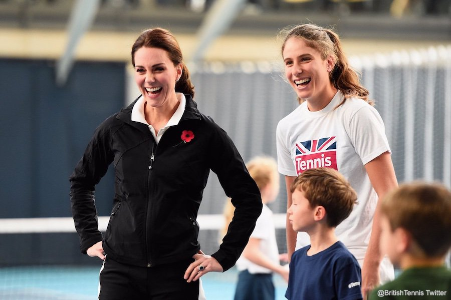 Kate Middleton and Johanna Konta