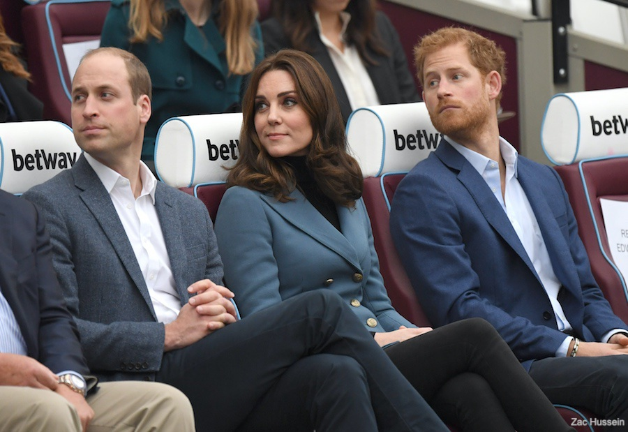 William, Kate and Harry visit Coach Core