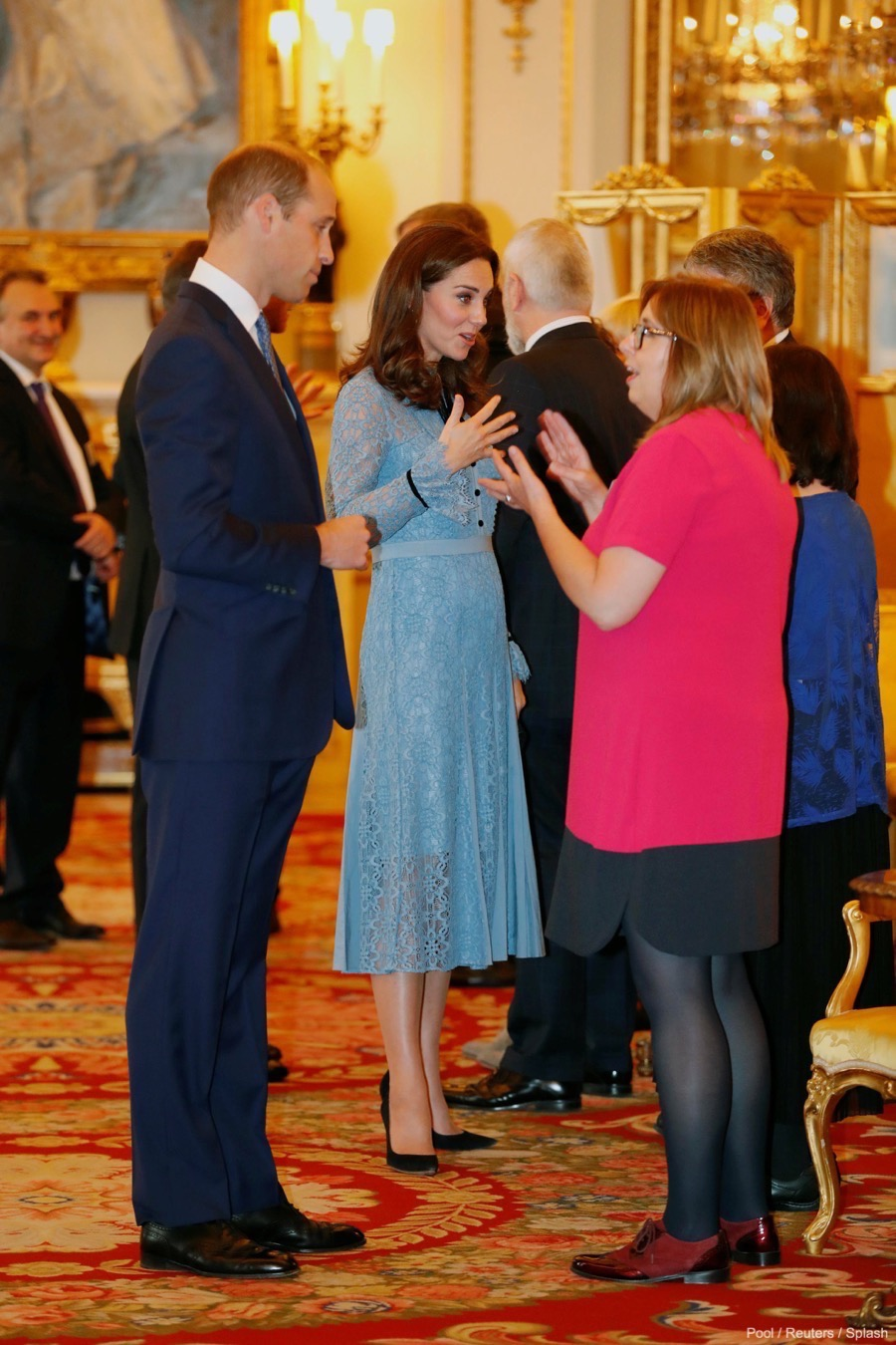 William and Kate at the mental health reception