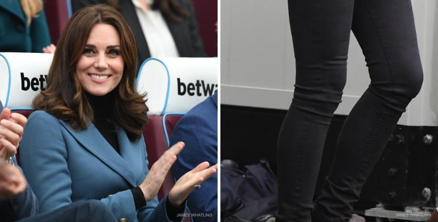 Kate Middleton's black turtleneck and jeans