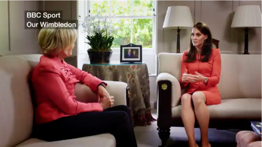 Kate Middleton speaking about Wimbledon on a BBC documentary