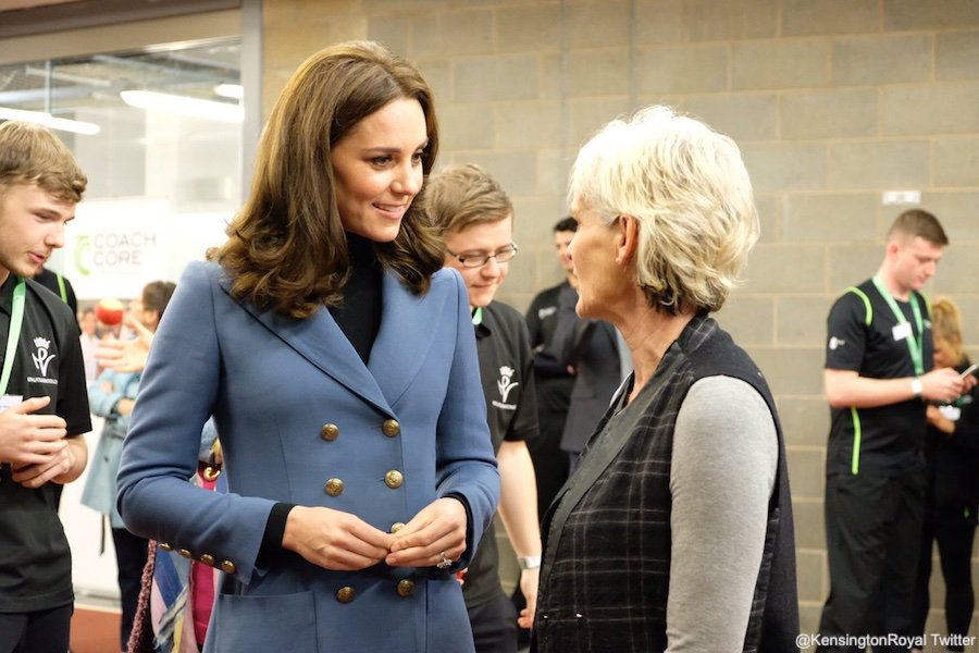 Kate Middleton speaking with Judy Murray