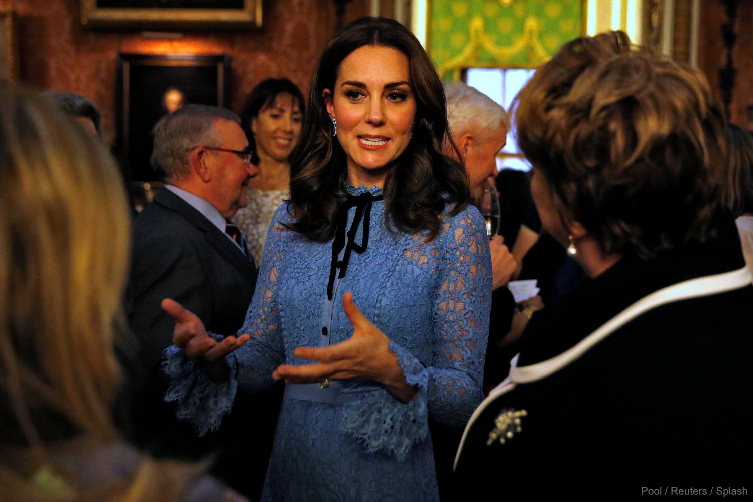 Kate Middleton attending the World Mental Health Day reception at Buckingham Palace