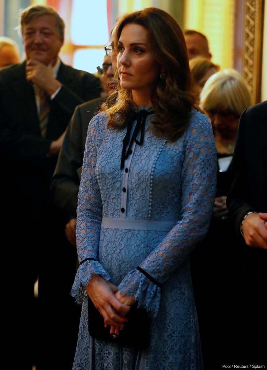 Pregnant Kate at the reception