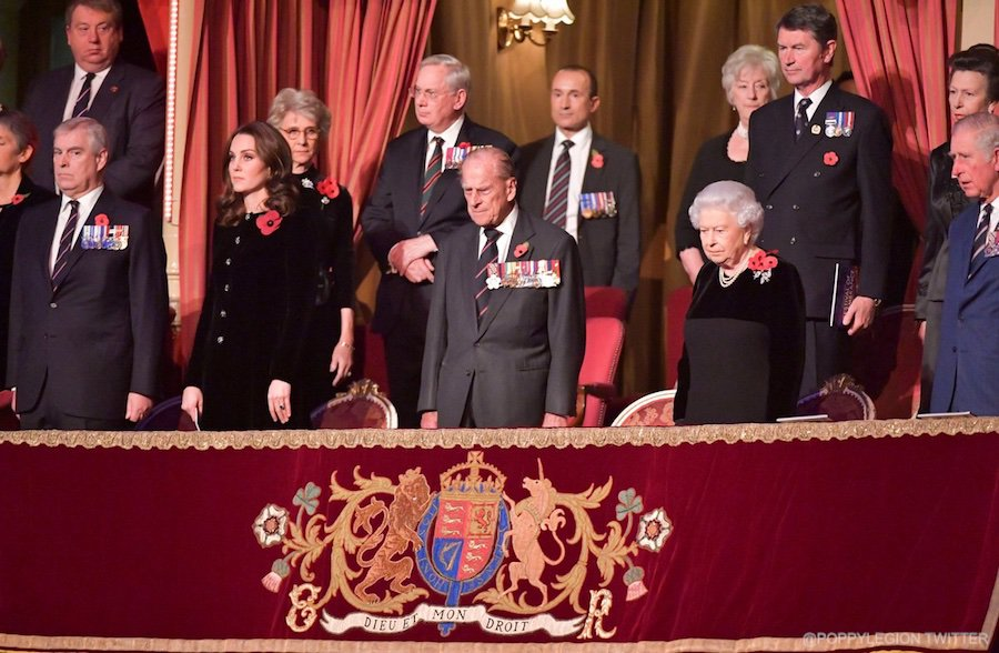 Members of the Royal Family at the 2017 Festival of Remembrance