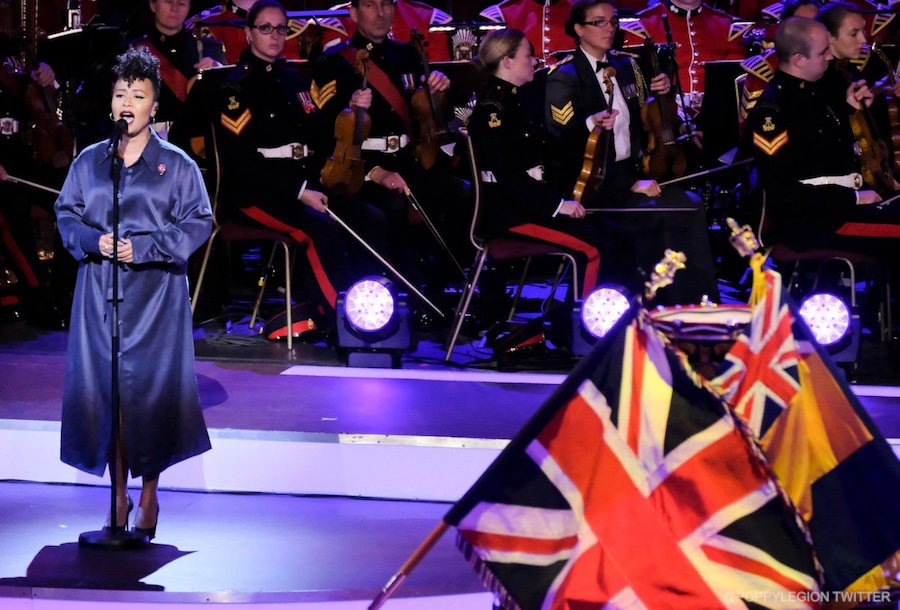 Emeli Sandé at the 2017 Festival of Remembrance