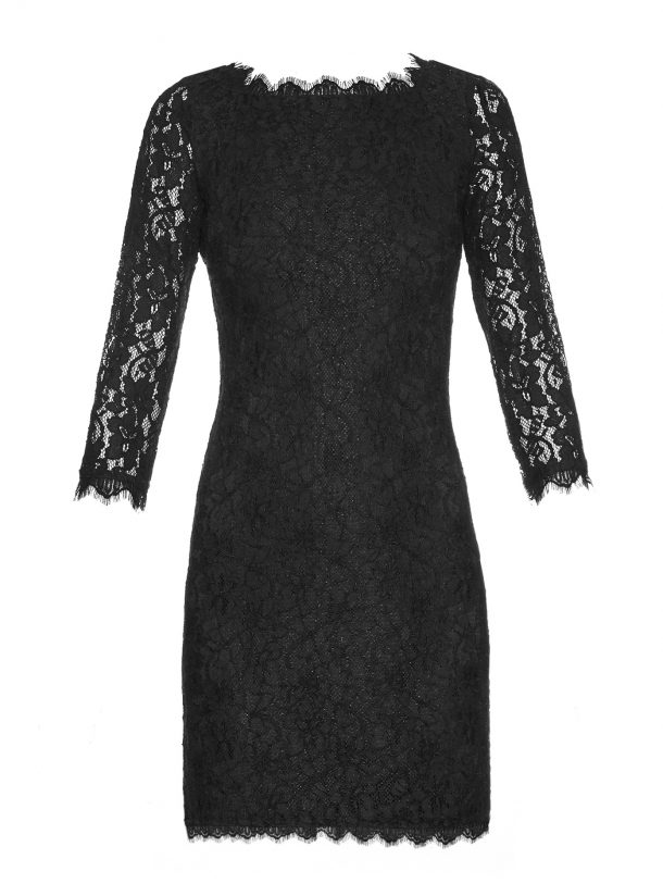 DVF Zarita dress in black, short