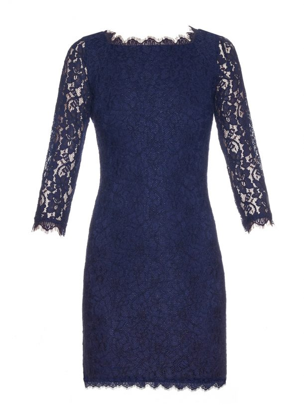DVF Zarita dress in blue, short