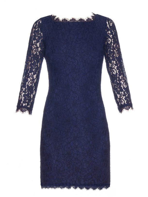 DVF Zarita dress in blue, short