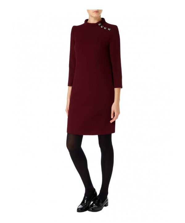 Goat Eloise Tunic Dress in Plum