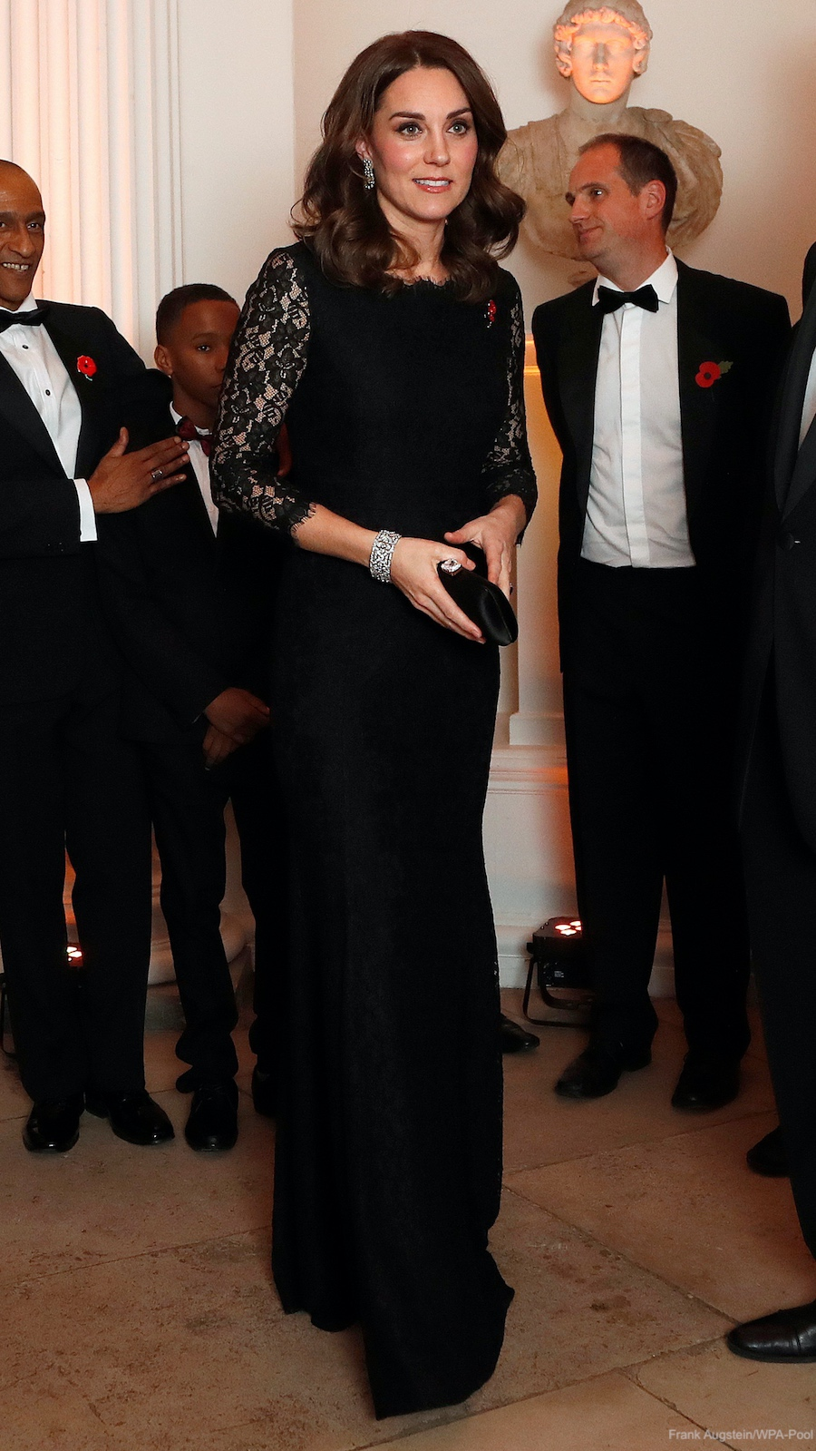 Kate Middleton black lace gown