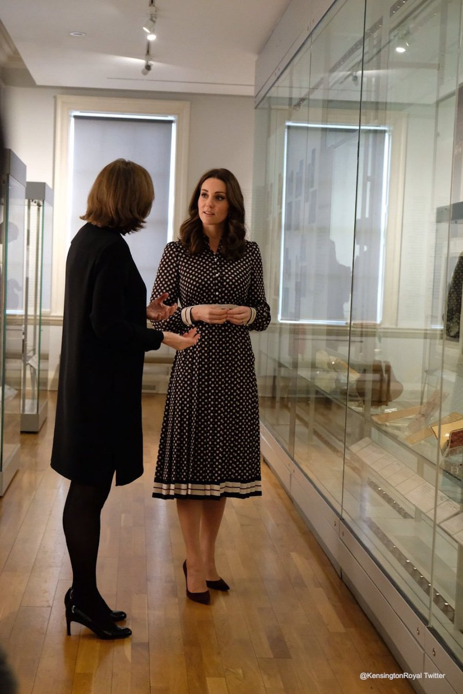 The Duchess of Cambridge (Kate Middleton) viewing exhibits at the Foundling Museum