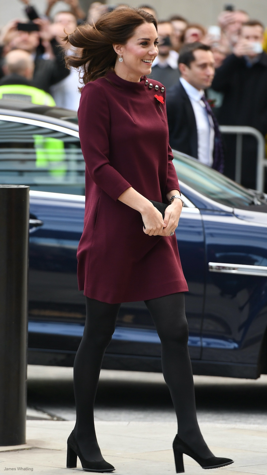 Kate Middleton wearing the Goat Eloise Tunic Dress in Plum