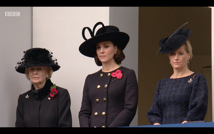 Kate Middleton at the National Service of Remembrance 2017