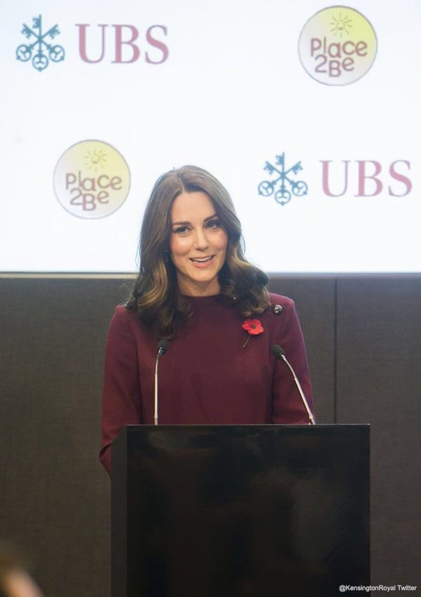 Kate chooses plum purple dress by Goat for Place2Be Forum
