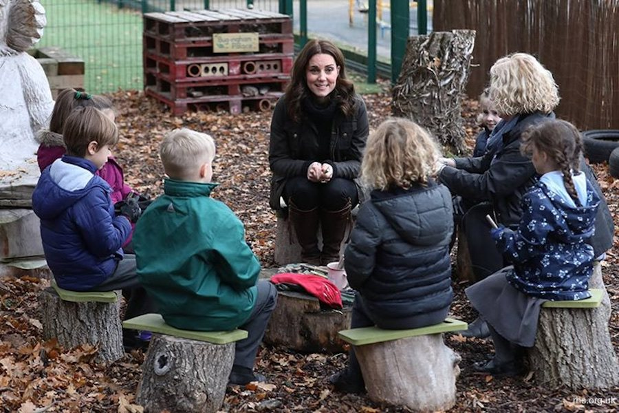 Her Royal Highness, The Duchess of Cambridge, visits a London school to mark the anniversary of the RHS Campaign for School Gardening