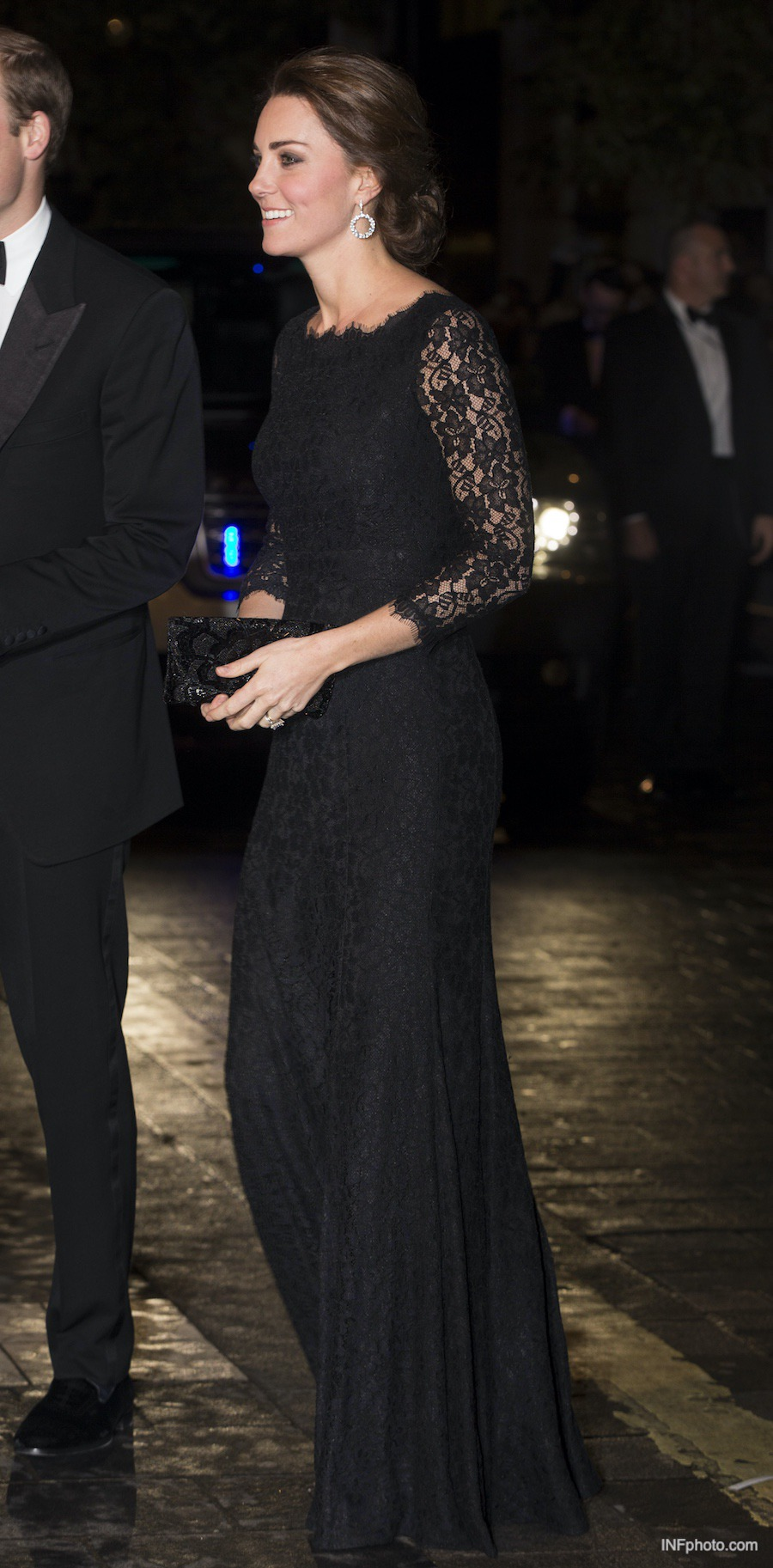 Diane Von Furstenberg Zarita Lace Gown in Black