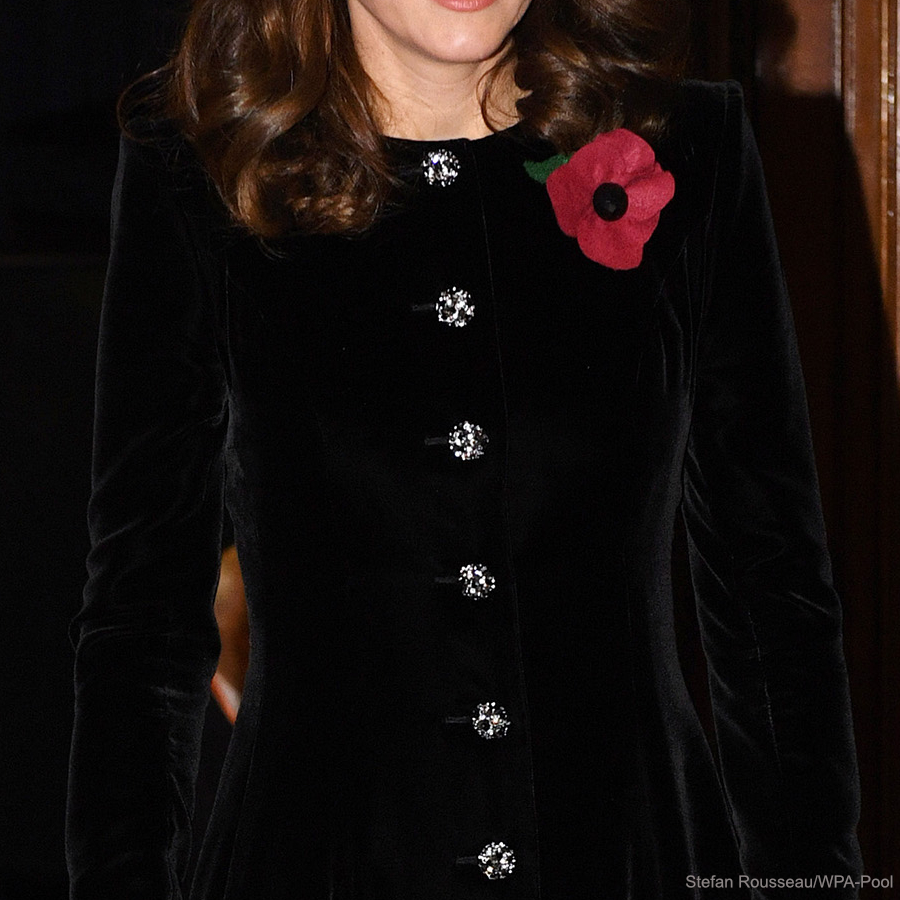 Kate Middleton's black velvet coat