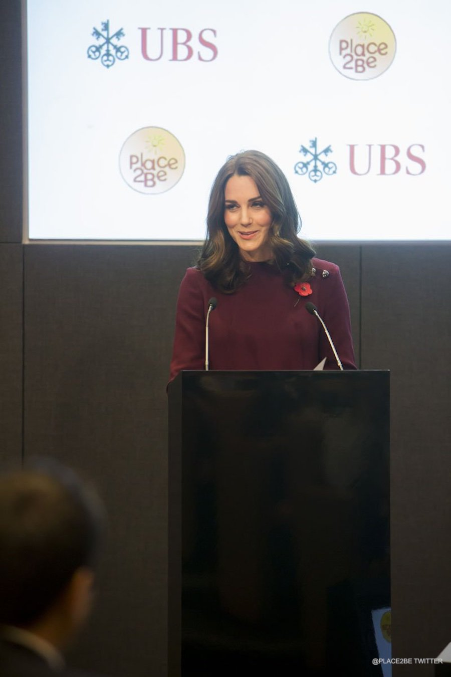 Kate Middleton giving an address at the forum