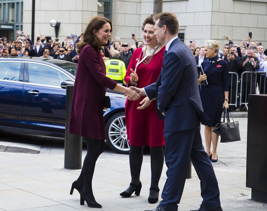 Kate Middleton meeting with the organisers of the Place2Be Forum