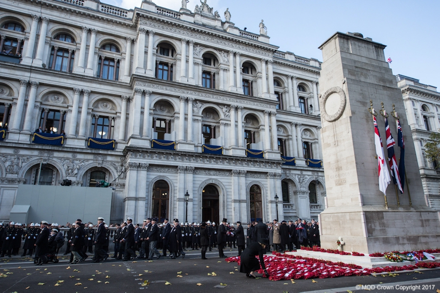 Cenotaph in London where the National Service of Remembrance takes place
