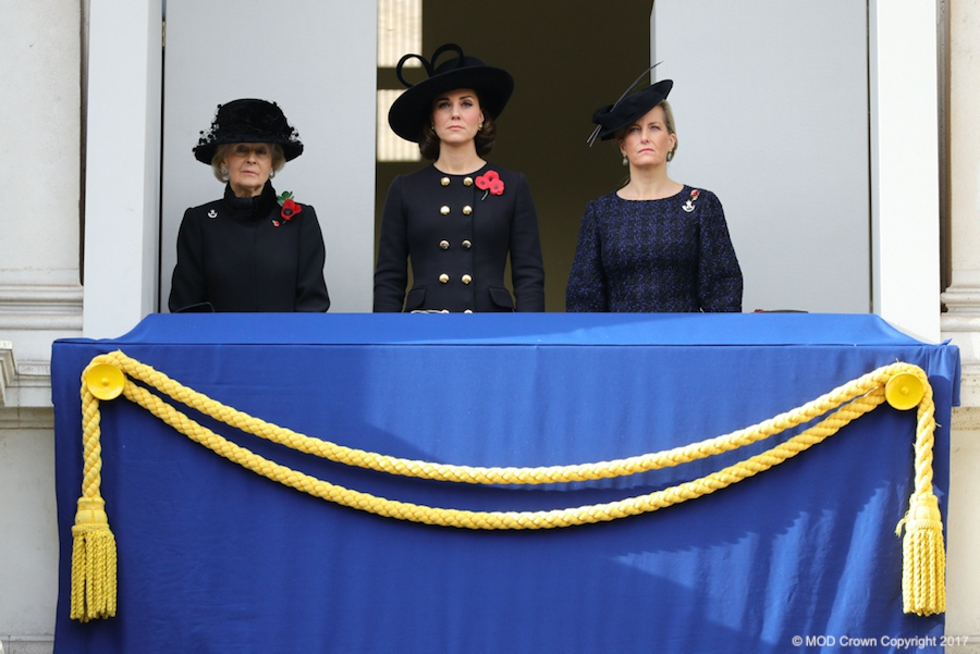 Kate Middleton at the 2017 Service of Remembrance