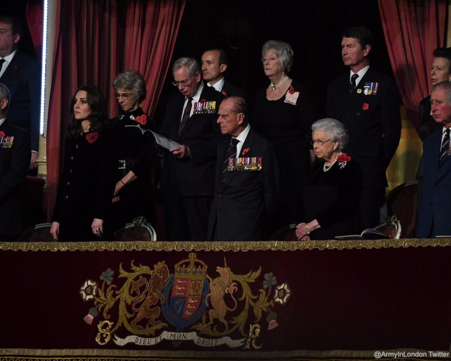 The Royal Family at the Festival of Remembrance in London