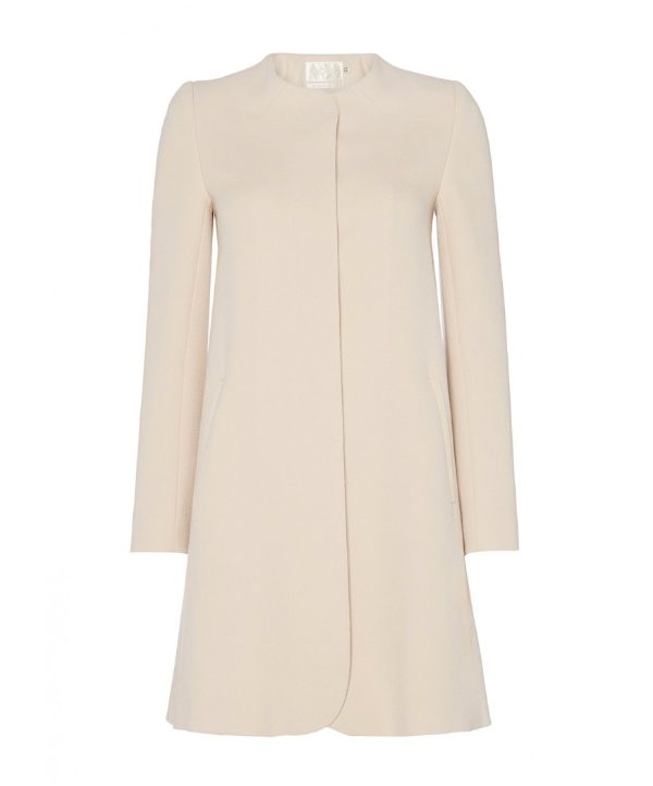 Goat redgrave coat in nude cream