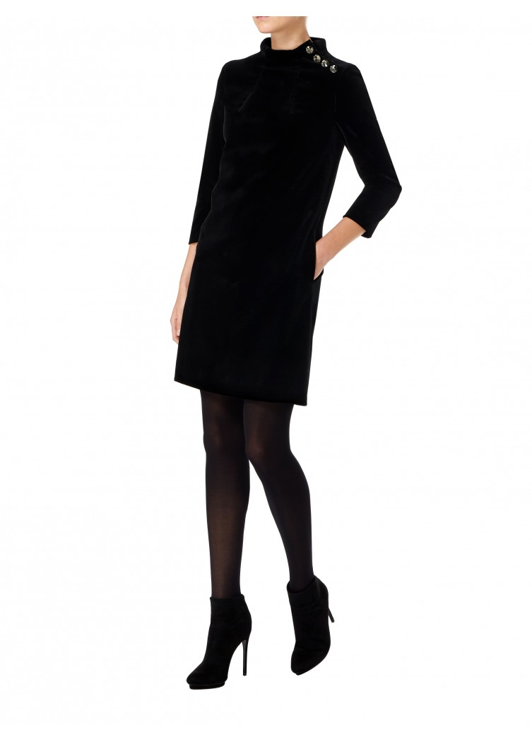 Goat Eloise Tunic in Black Velvet