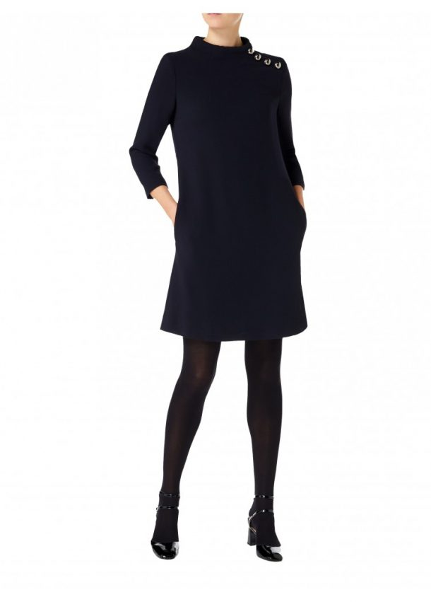 Goat Eloise Tunic Dress in Dark Navy