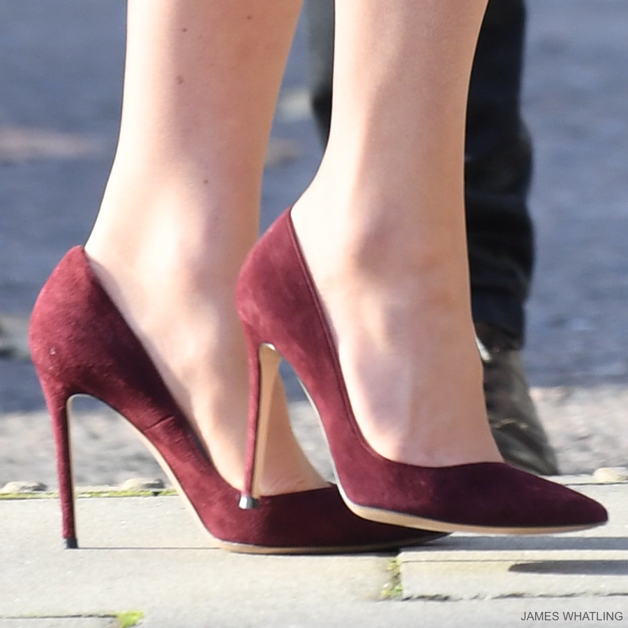 Kate Middleton's burgundy Gianvito Rossi pumps