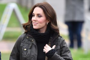 Kate Middleton dressed in a casual outfit for a school visit