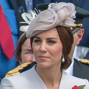 Kate Middleton wearing Diana's Collingwood earrings