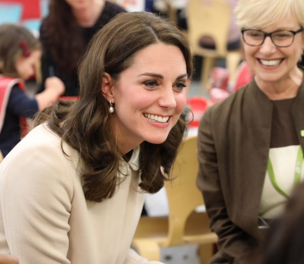 Kate in Goat & Topshop for Hornsey Road Children's Centre visit