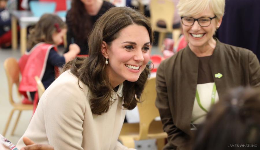 Kate Middleton visiting Hornsey Road Children's Centre in London