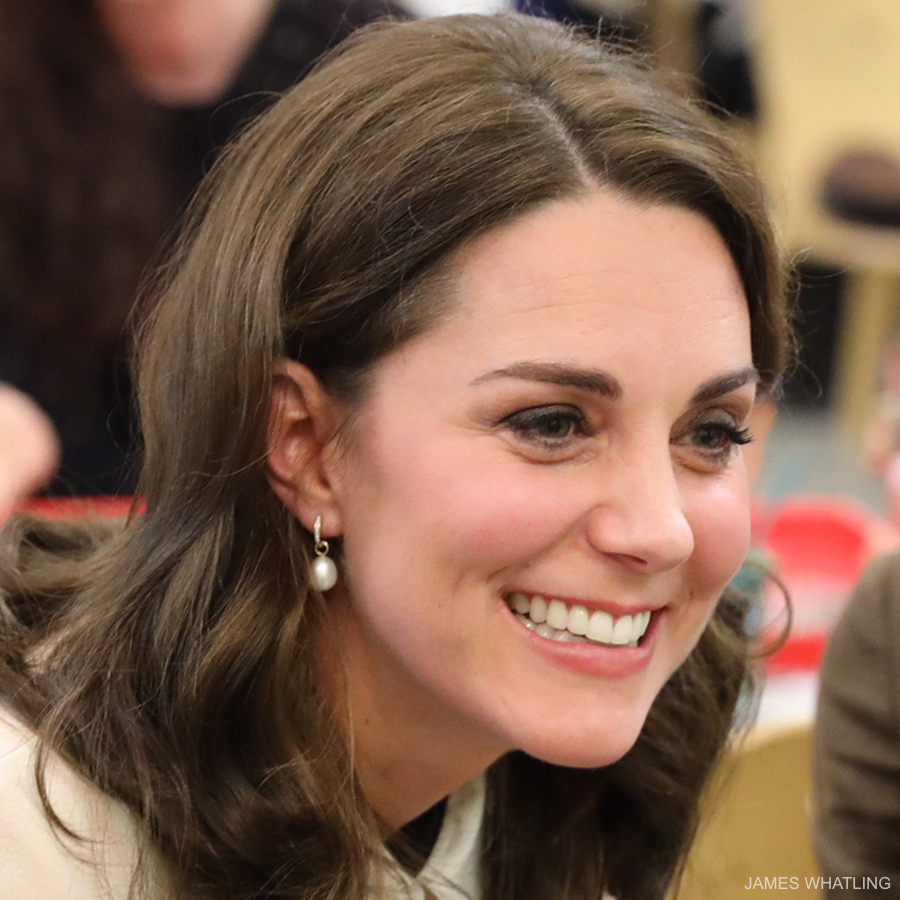 Kate Middleton's pearl drop earrings in london