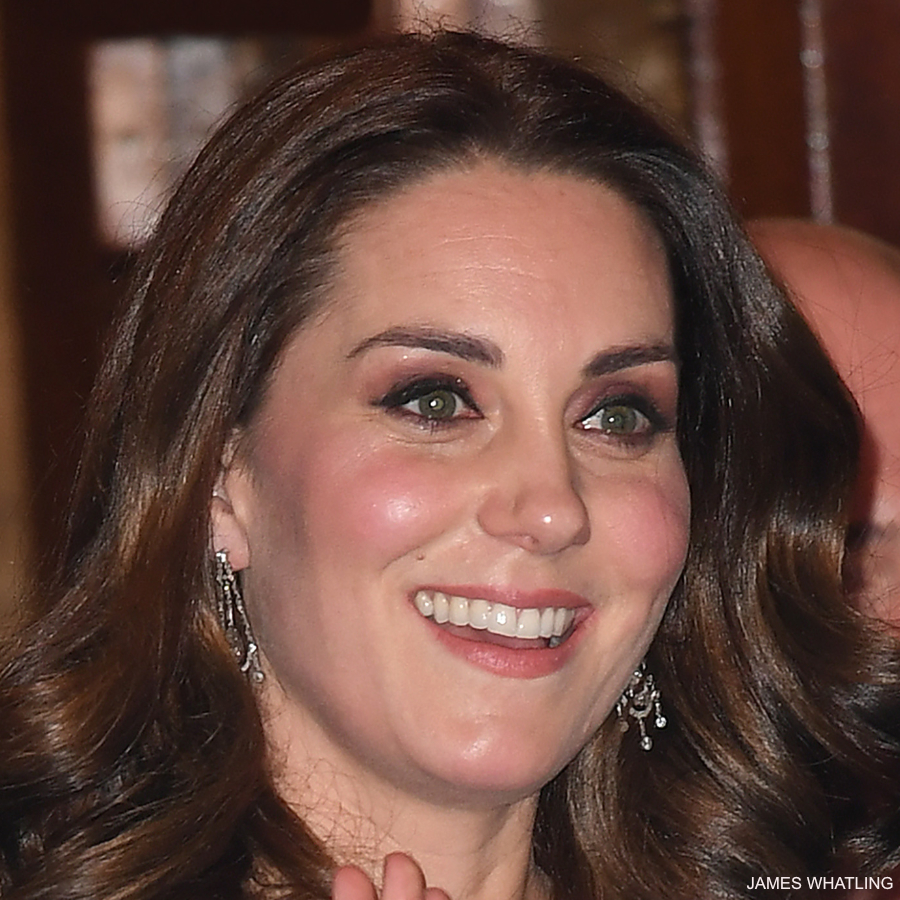 Kate Middleton wearing the Queens Chandelier earrings